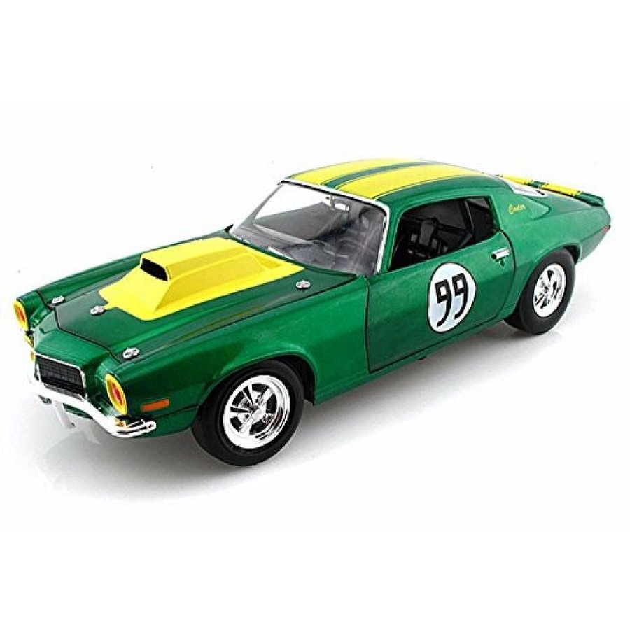 【送料無料】ミニカー 1970 The Dukes of Hazzard Cooter's 1970 Chevy Camaro Hard Top #99, 緑 w/ Stripes - Tomy Johnny Lightning 21958 - 1/18 scale