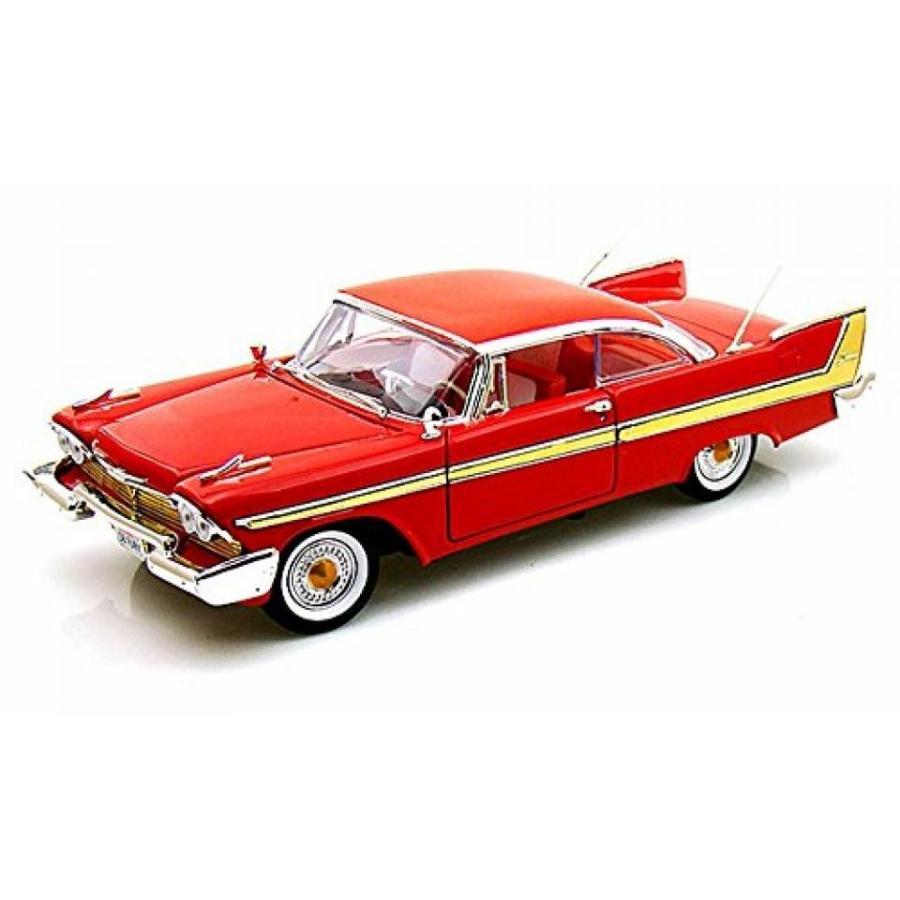 【送料無料】ミニカー 1958 Plymouth Fury, 赤 - Motormax 73115 - 1/18 scale Diecast Model Toy Car 輸入品