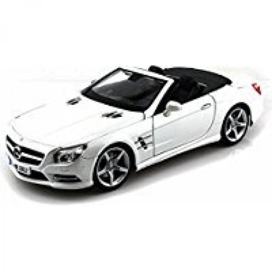 【送料無料】ミニカー Mercedes-Benz SL500 Convertible, Pearl 白い - Maisto 31196 - 1/18 Scale Diecast Model Toy Car 輸入品