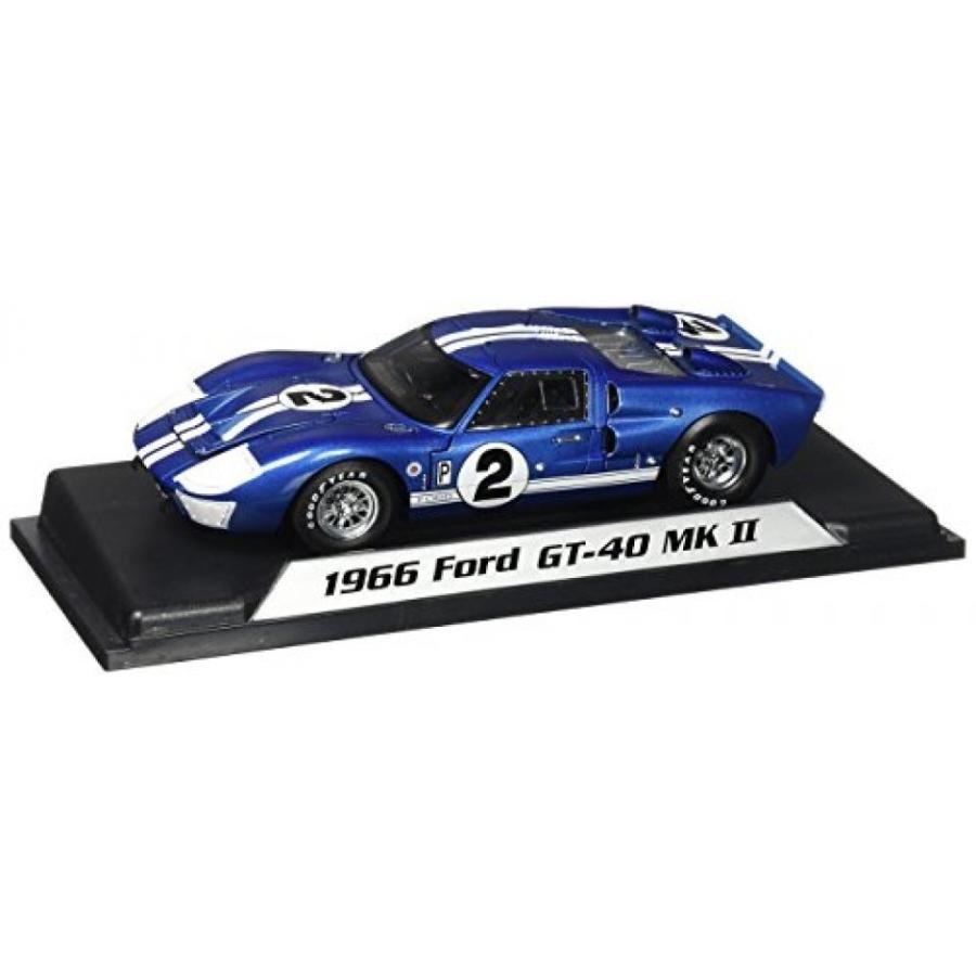 【送料無料】ミニカー 1966 Ford GT-40 MK II #2, 青 w/ 白い Stripes - Shelby SC401 - 1/18 Scale Diecast Model Toy Car 輸入品