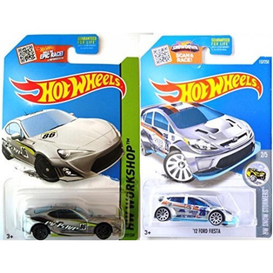【送料無料】ミニカー Scion Hot Wheels + Ford Fiesta Exclusive Zamac Edition - Evasive 銀 Scion FR-S model Set in PROTECTIVE CASES 輸入品
