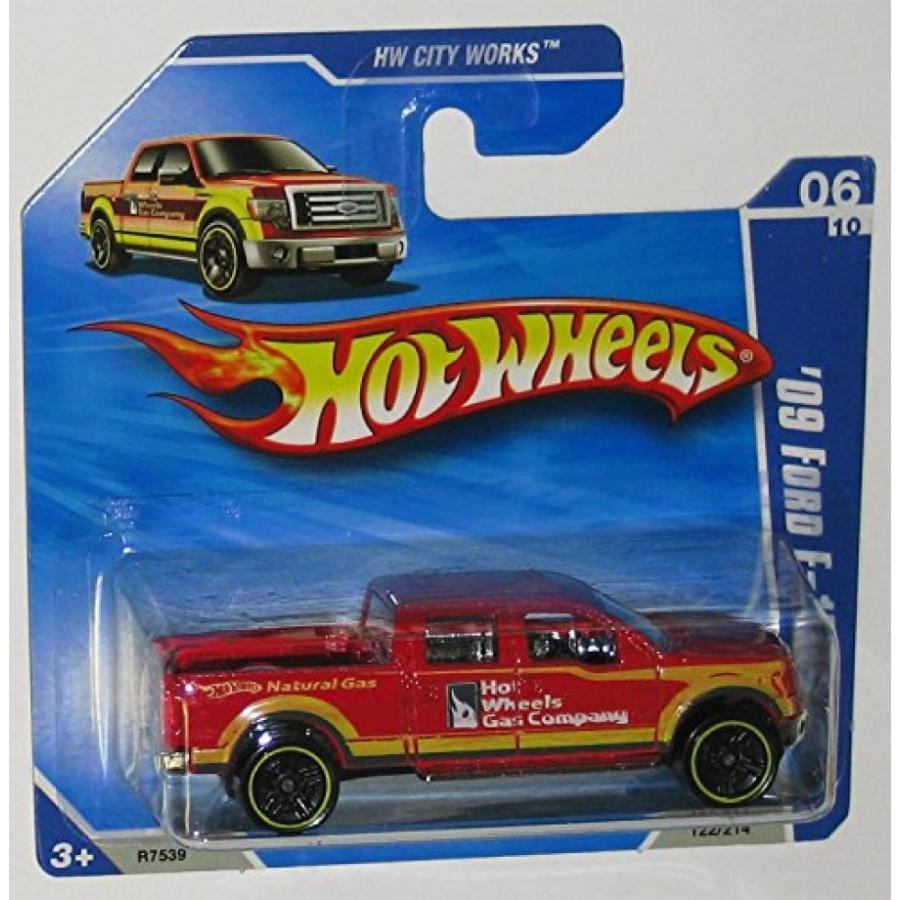 【送料無料】ミニカー 赤 '09 FORD F-150 Hot Wheels 2010 HW City Works Series 1:64 Scale Collectible Die Cast Metal Toy Car Model on an International