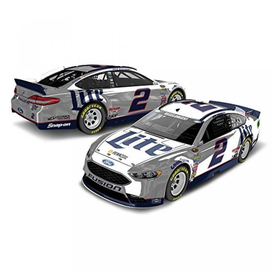 フォード ミニカー Lionel Racing Brad Keselowski #2 Miller Lite 2016 Ford Fusion NASCAR Color Chrome 1:24 Scale Diecast Car 輸入品