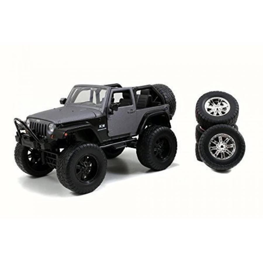 【送料無料】ミニカー 2007 Jeep Wrangler, Charcoal - Jada 54027/W12 - 1/24 Scale Diecast Model Toy Car 輸入品