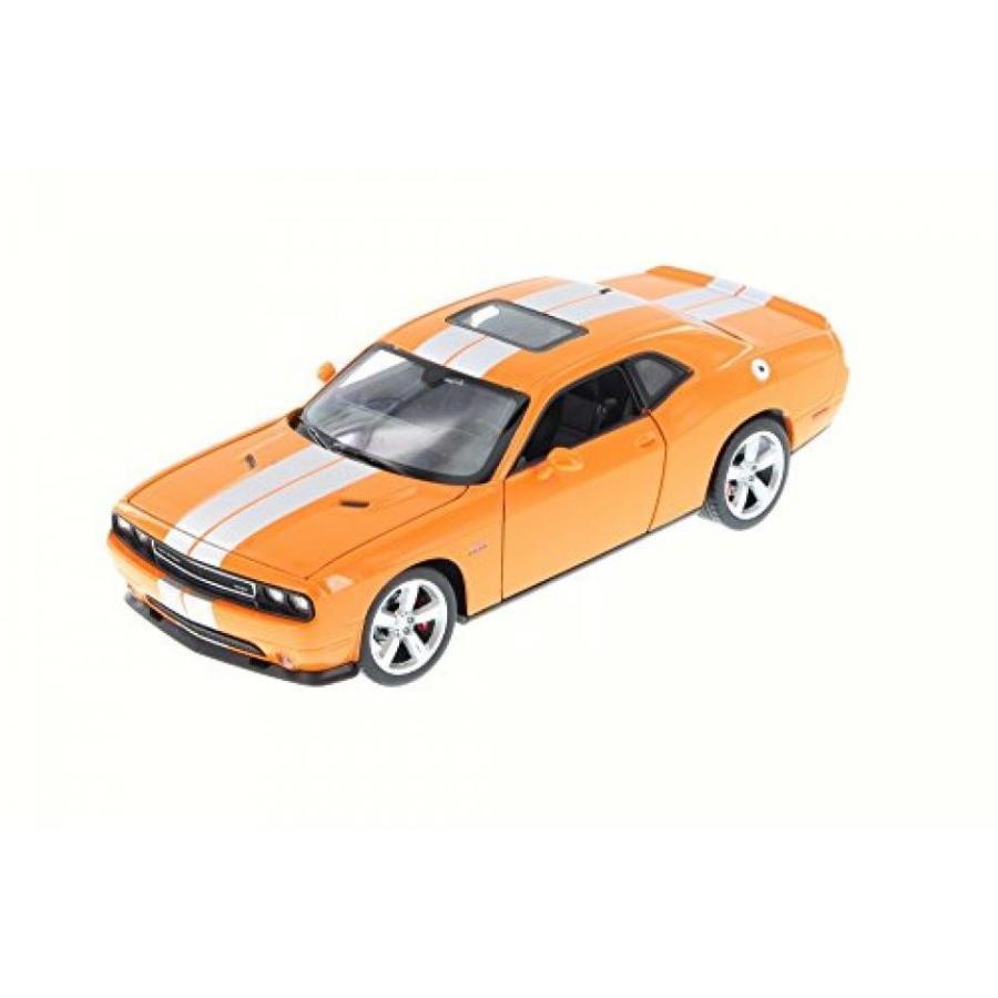 【送料無料】ミニカー 2013 Dodge Challenger SRT, オレンジ - Welly 24049 - 1/24 Scale Diecast Model Toy Car 輸入品