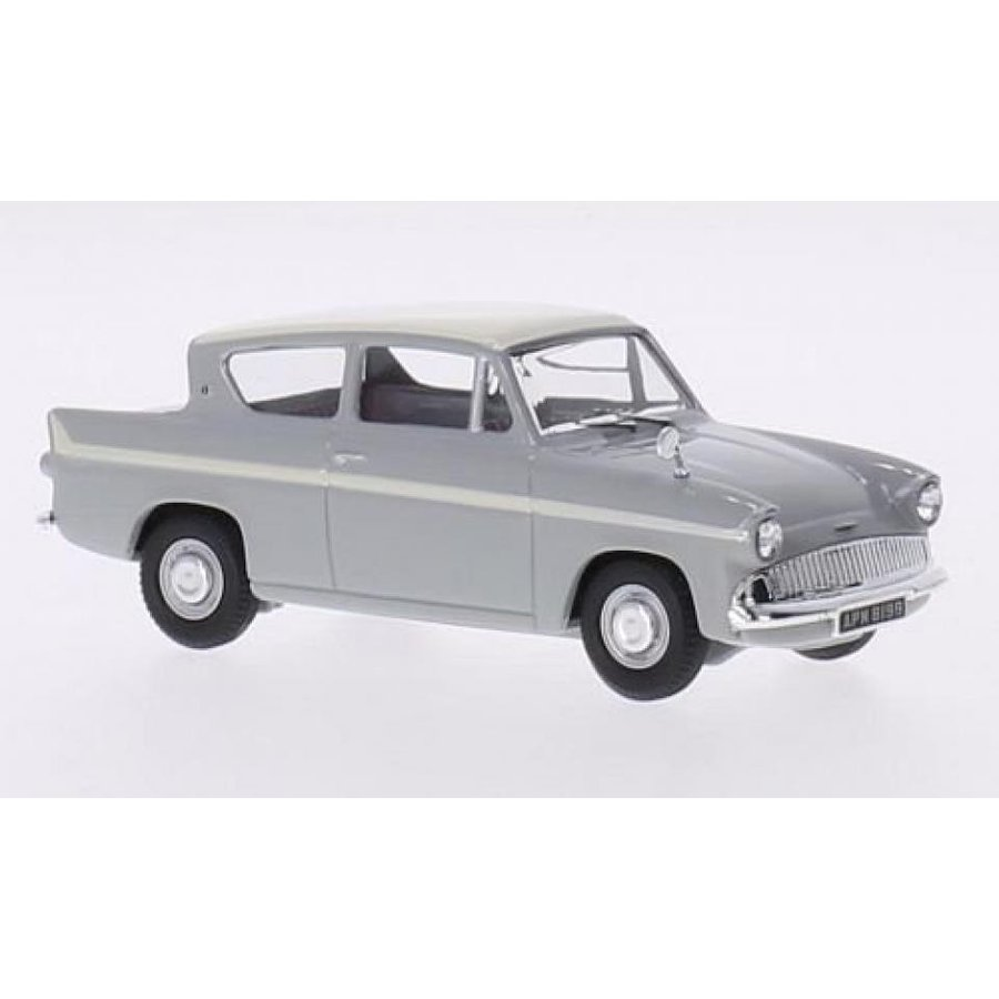 フォード ミニカー Ford Anglia 1200 super, light グレー/beige, RHD, Model Car, Ready-made, Vanguards 1:43 輸入品