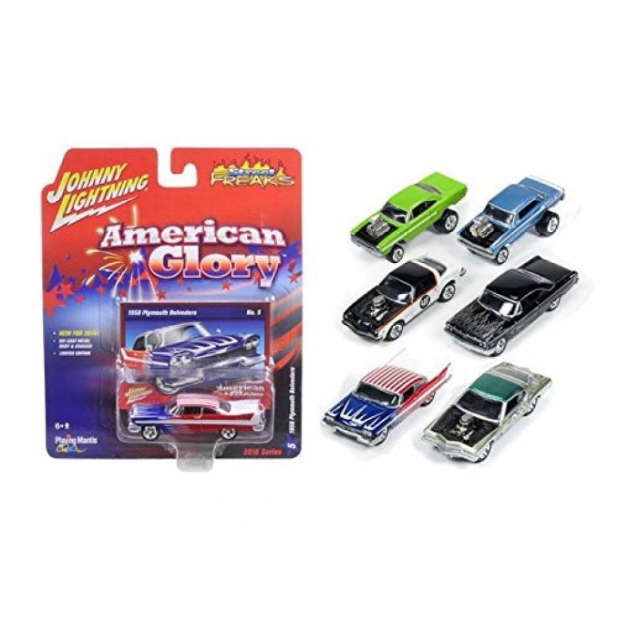 【送料無料】ミニカー Autoworld JLSF001-A Street Freaks Release 1-A, Set of 6 cars 1-64 Diecast Model Cars by Johnny Lightning 輸入品