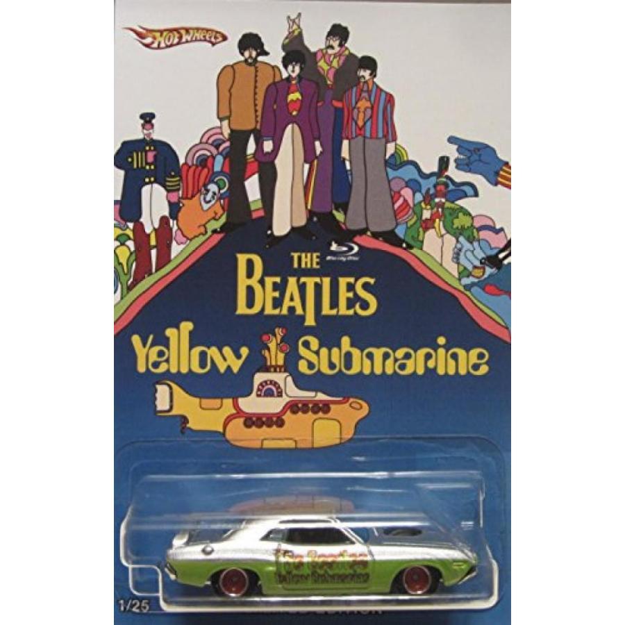 【送料無料】ミニカー Hot Wheels CUSTOM '71 DODGE CHALLENGER The Beatles 黄 Submarine Real Riders Rubber Wheels Limited Edition 1/25 Made! 輸入品