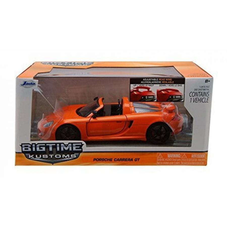 【送料無料】ミニカー Porsche Carrera GT convertible, オレンジ - Jada Toys 96955 - 1/24 scale Diecast Model Toy Car by Jada 輸入品