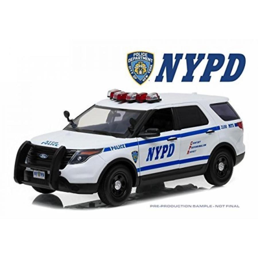【送料無料】ミニカー 緑LIGHT 1:18 2015 FORD POLICE INTERCEPTOR UTILITY - NEW YORK CITY POLICE DEPARTMENT (NYPD) 12973 輸入品