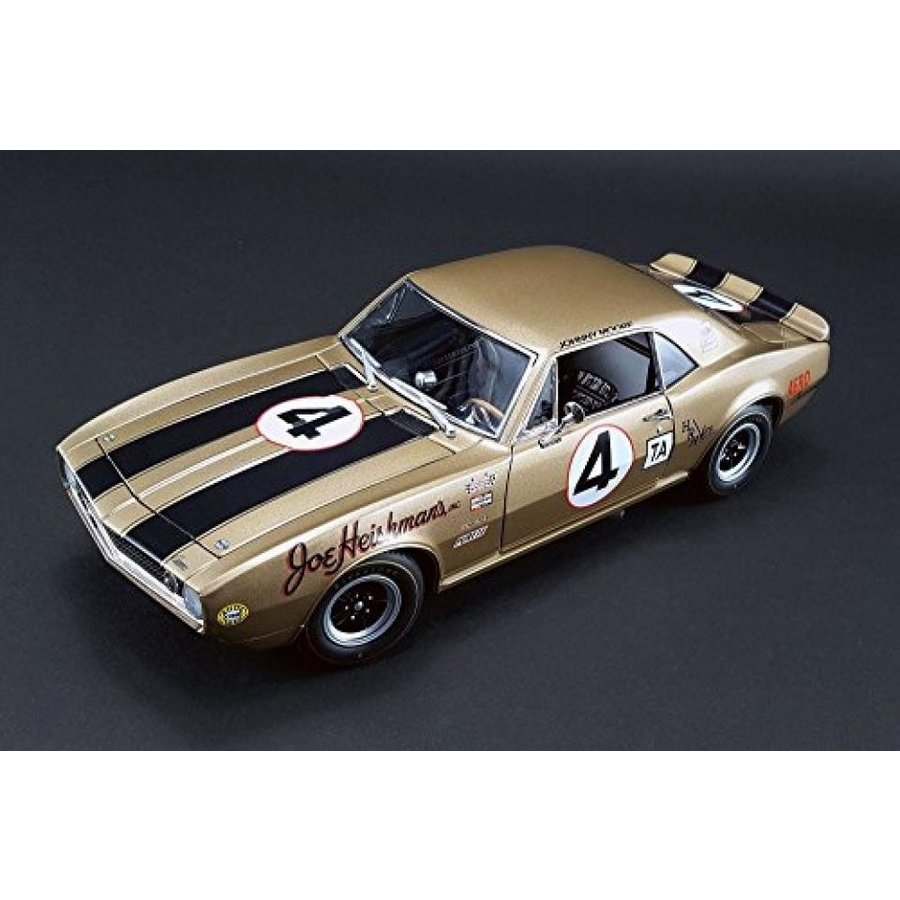 【送料無料】ミニカー 1964 Chevy Camaro Z28, ゴールド - Acme 1805703 - 1/18 Scale Diecast Model Toy Car 輸入品