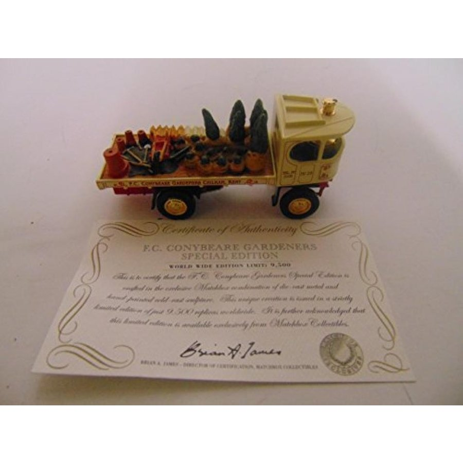 【送料無料】ミニカー Matchbox Collectibles, Models of Yesteryear, F.C. CONYBEARE GARDENERS Special Edition 輸入品