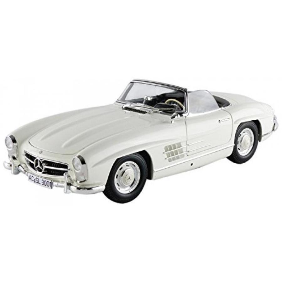 【送料無料】ミニカー Mercedes 300 SL Roadster (W198 I), 白い/黒, 1957, Model Car, Ready-made, Minichamps 1:18 輸入品