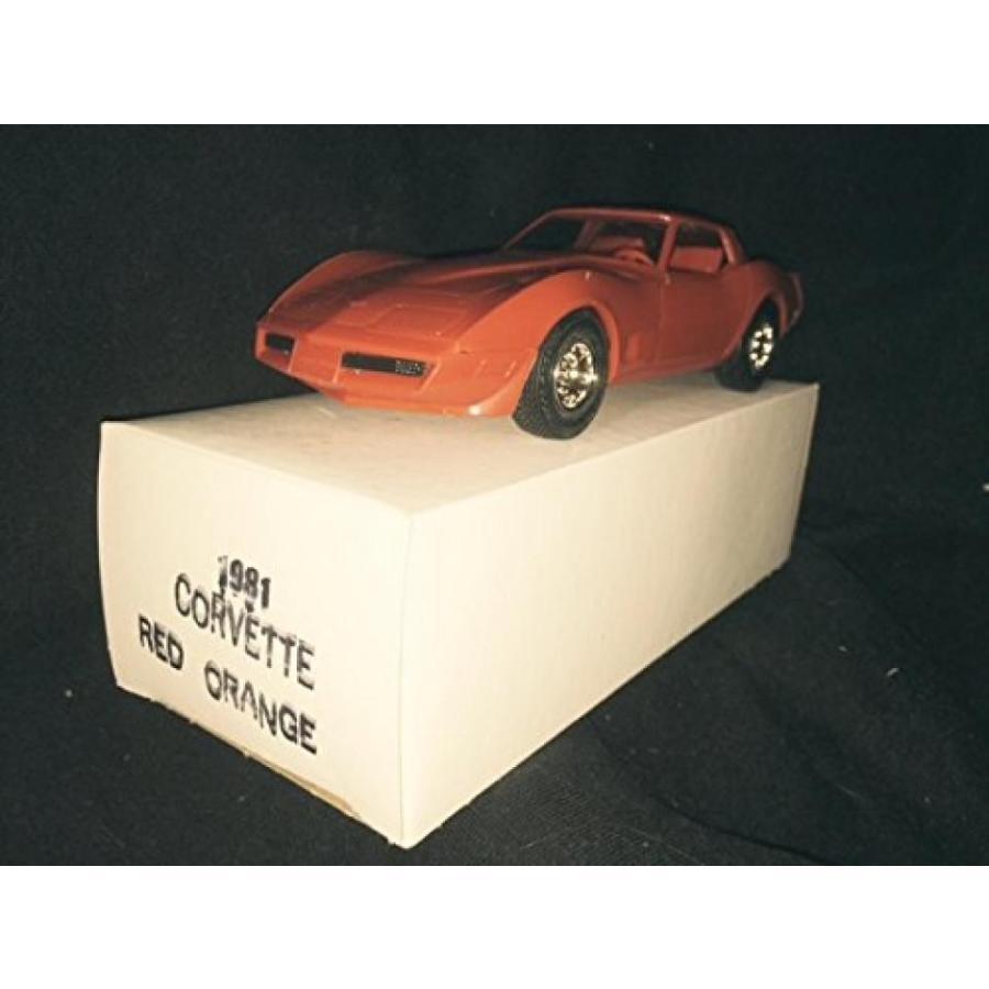 【送料無料】ミニカー 1981 Corvette,赤 オレンジ 1/25 Plastic Promo,Fully Assembled by ERTL 輸入品