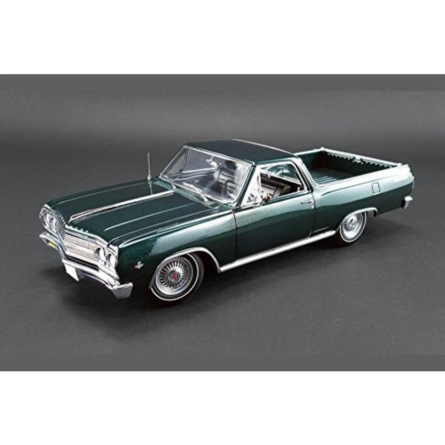 【送料無料】ミニカー 1965 Chevy El Camino, Cypress 緑 - Acme 1805408 - 1/18 Scale Diecast Model Toy Car 輸入品