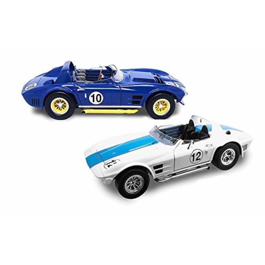 【送料無料】ミニカー 1964 Chevy Corvette Grand Sport Two Color Bundle - Two 1/18 Scale Diecast Model Cars 輸入品