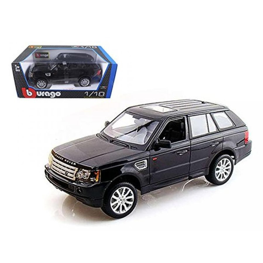 レンジローバー ミニカー Range Rover Sport 黒 1/18 Car Model by Bburago 輸入品