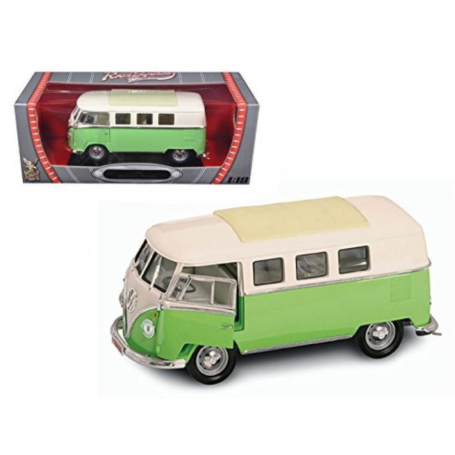 フォルクスワーゲン ミニカー 1962 Volkswagen Microbus Light 緑 1/18 Car Model by Road Signature 輸入品