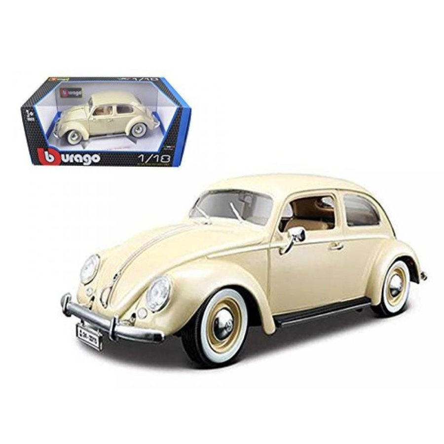 フォルクスワーゲン ミニカー 1955 Volkswagen Beetle Kafer Beige 1/18 Diecast Car Model by Bburago 12029bg 輸入品