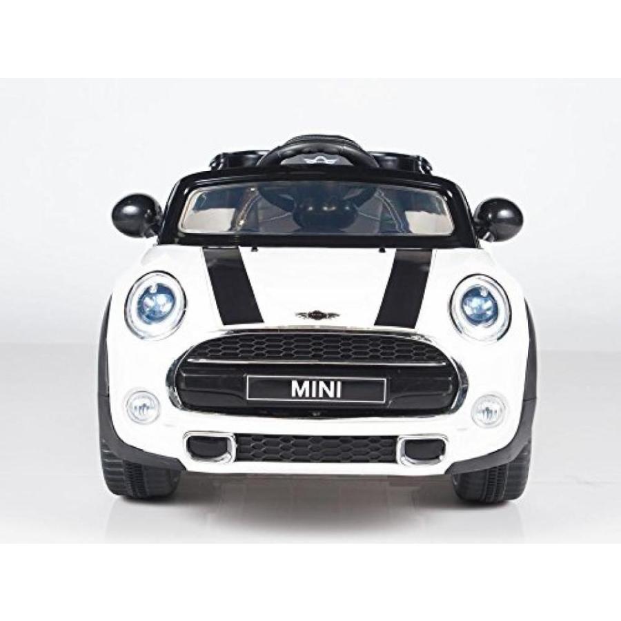 ミニクーパー ミニカー Exclusive Licensed Convertible Cooper 12v Ride on Car, Toy for Kids with Remote Control, Music, Lights, Leather Seat 輸入品