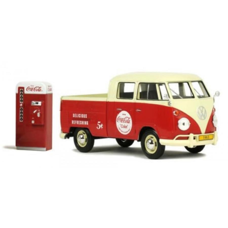 フォルクスワーゲン ミニカー New 1:24 MOTOR CITY CLASSIC COLLECTION - COCA-COLA 赤 1963 VOLKSWAGEN TYPE 2 (T1) PICKUP WITH VENDING MACHINE Diecast