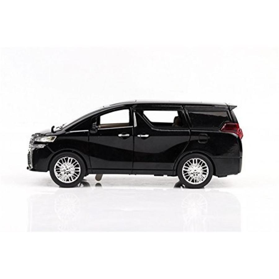 【送料無料】ミニカー Model car,Greshare 1:24 Alphard Diecast Sound & Light & Pull Back Model Toy Car 黒 New in Box 輸入品