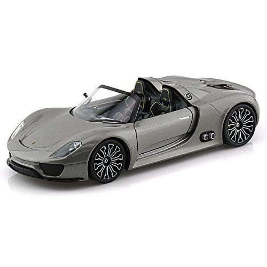 【送料無料】ミニカー Welly Porsche 918 Spyder 銀 Gray 1/24 DIECAST CAR MODEL NEW 輸入品