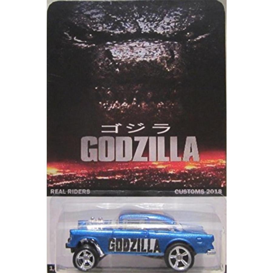 【送料無料】ミニカー Hot Wheels CUSTOM '55 CHEVY BEL-AIR Godzilla Real Riders Rubber Wheels Collectible Die Cast Model Car 1/64 Scale Limited Edition