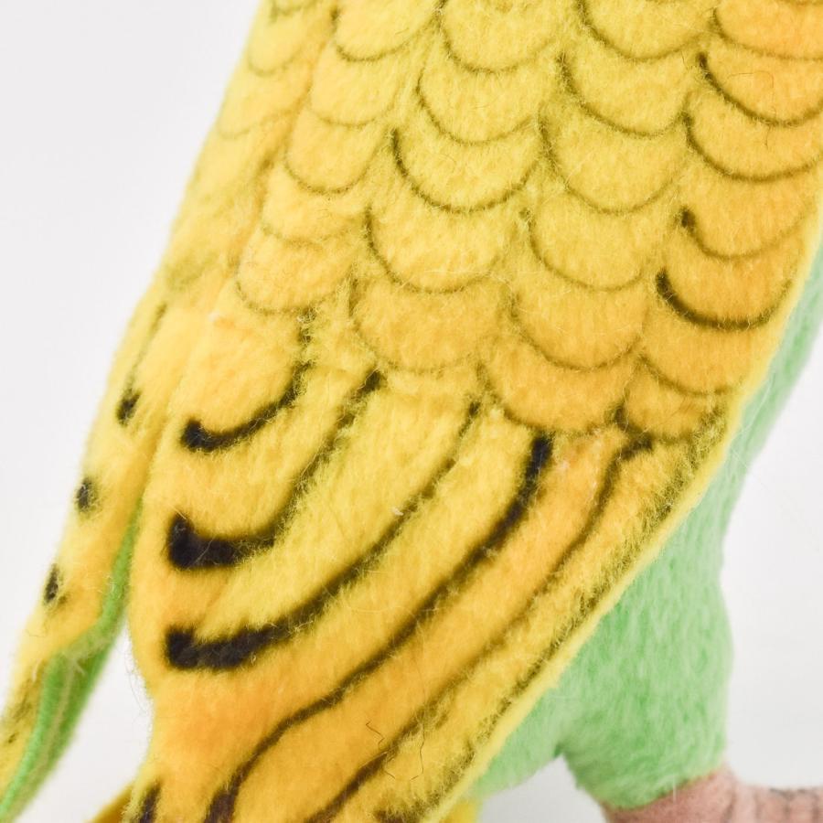 HANSA ハンサ グリーンセキセイインコ 鳥 3653 リアル 動物 ぬいぐるみ プレゼント ギフト 母の日 父の日 dearbear 05