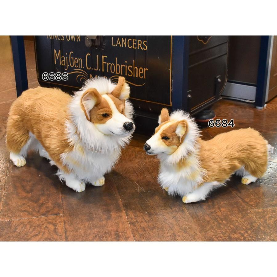 HANSA ハンサ ウェルシュコーギー 犬 6686 ギフト対象外 リアル 動物 ぬいぐるみ プレゼント ギフト 母の日 父の日|dearbear|09