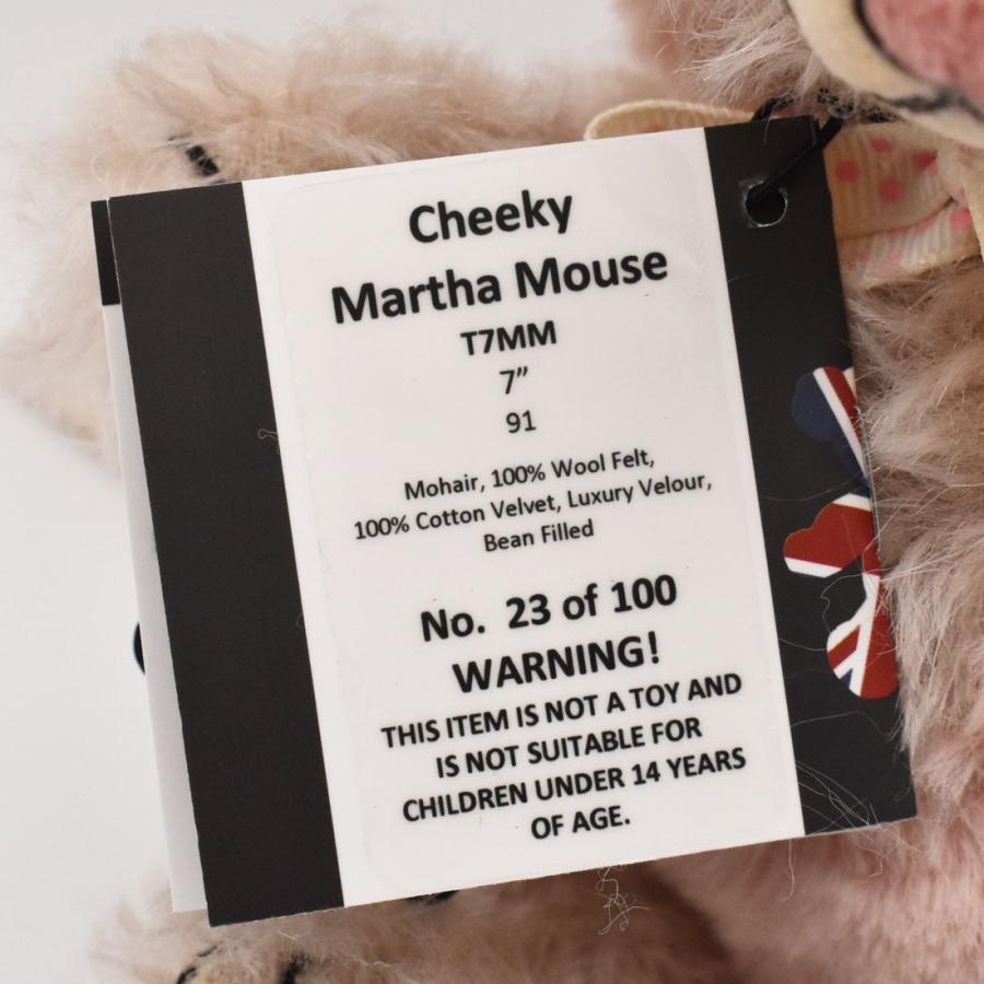 テディベア メリーソート チーキー マーサマウス No23 限定100体 ぬいぐるみ ブランド イギリス プレゼント ギフト 母の日 父の日 dearbear 06