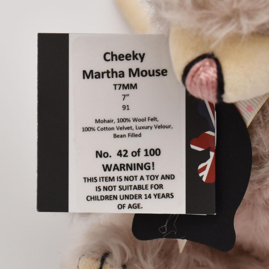 テディベア メリーソート チーキー マーサマウス No42 限定100体 ぬいぐるみ ブランド イギリス プレゼント ギフト 母の日 父の日 dearbear 06