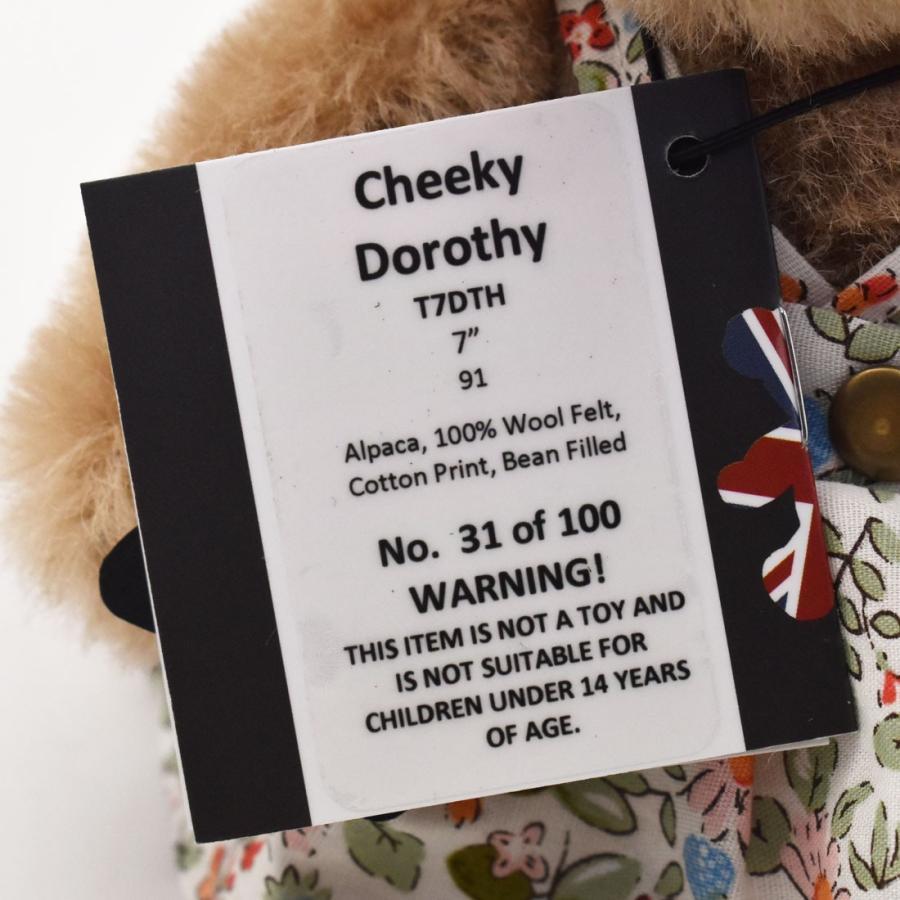 テディベア メリーソート チーキー ドロシー No31 限定100体 ぬいぐるみ ブランド イギリス プレゼント ギフト 母の日 父の日|dearbear|05