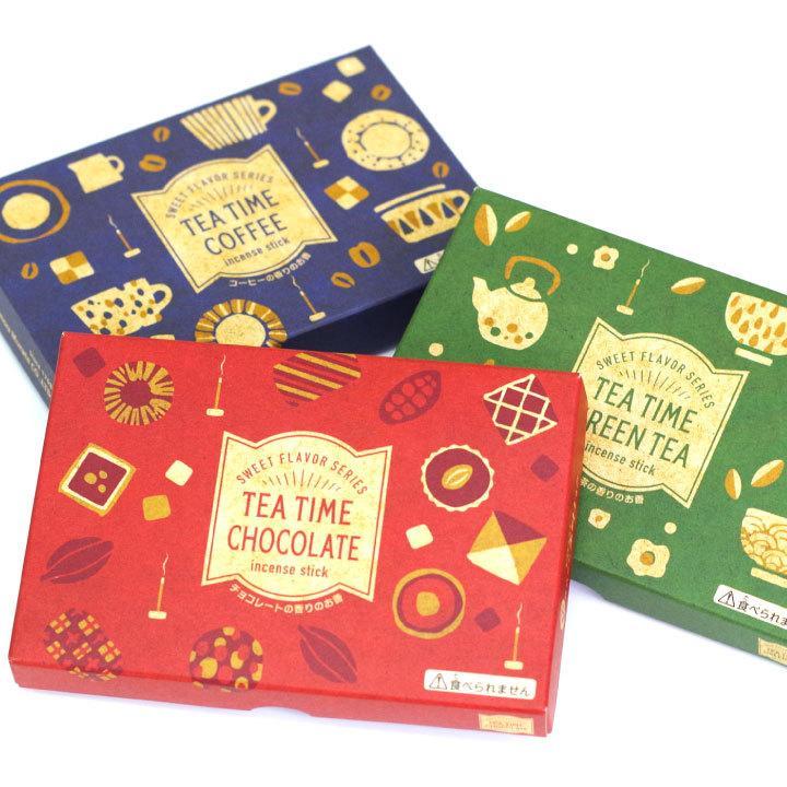 ペット 線香 3種 セット ミニ寸 コーヒー 緑茶 チョコレート 煙が少ない 約12分燃焼 短時間 カフェ ティータイム ネコポス送料無料|dearpet|08