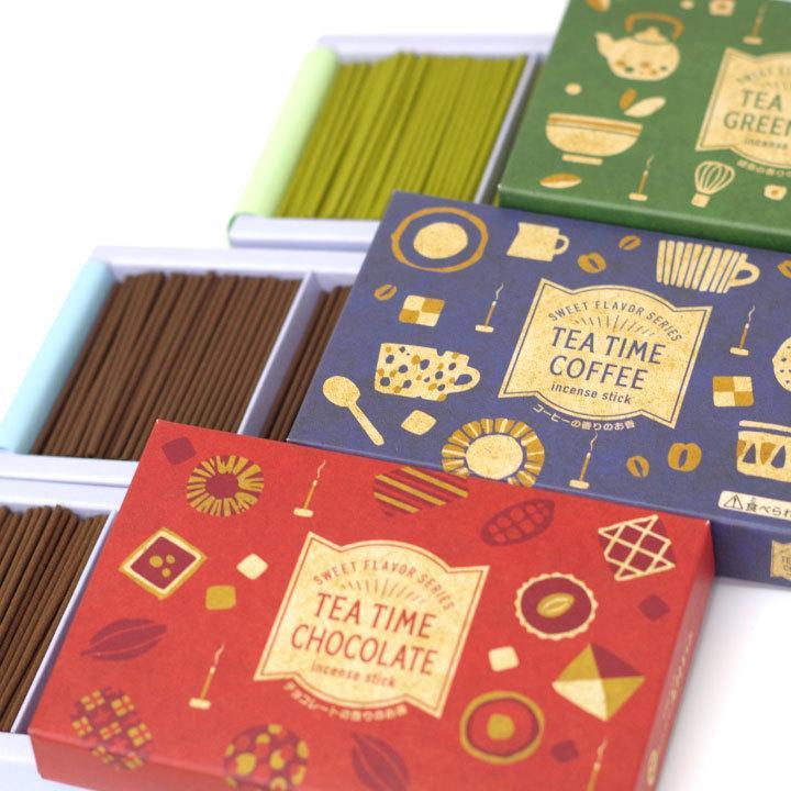 ペット 線香 3種 セット ミニ寸 コーヒー 緑茶 チョコレート 煙が少ない 約12分燃焼 短時間 カフェ ティータイム ネコポス送料無料|dearpet|09
