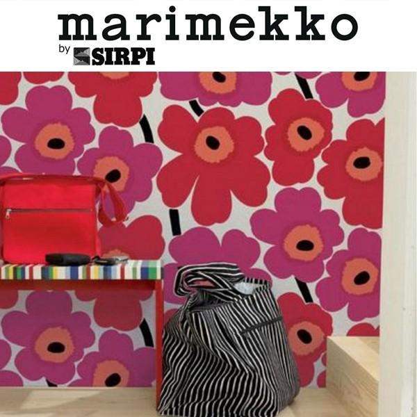 壁紙 輸入壁紙 マリメッコ ウニッコ レッド 13071 輸入 Marimekko
