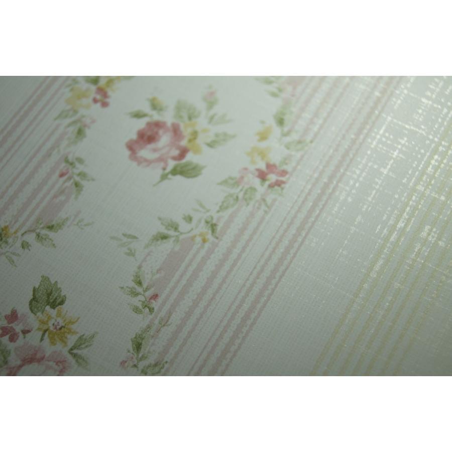 壁紙 Flora 花柄 ストライプ ピンク Fg 輸入品 Fg インテリアショップ デコール 通販 Yahoo ショッピング