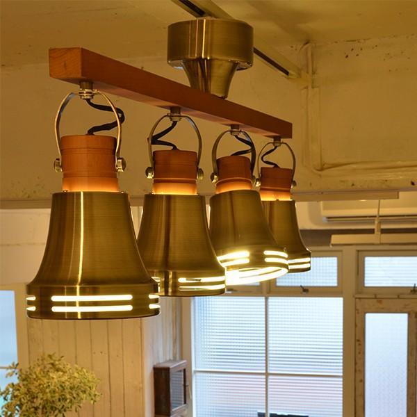 照明 シーリングライト スポットライト 4灯 北欧 Wood bell ウッドベル リモコン付 Lu Cerca ルチェルカ|decomode|02