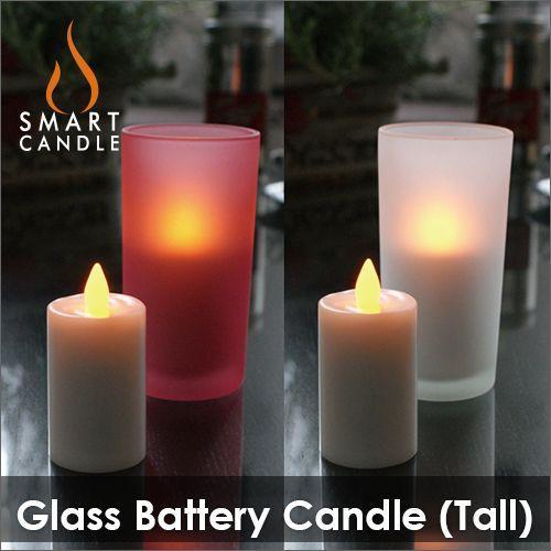 LEDキャンドル 電池式 グラス+LEDキャンドルセット Smart Candle グラスバッテリーキャンドル decomode