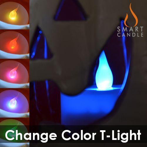 LEDキャンドル 電池式 色が変わる Smart Candle チェンジカラー・ティーライト10個セット まとめ買い|decomode