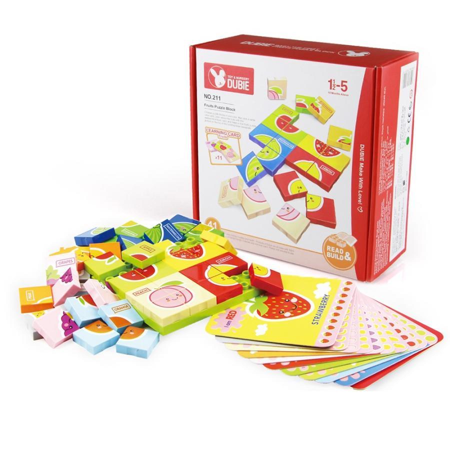 フルーツパズル 英語 知育玩具 女の子 男の子 学習 カラフル おもちゃ 幼児 ギフト decopartsfactory