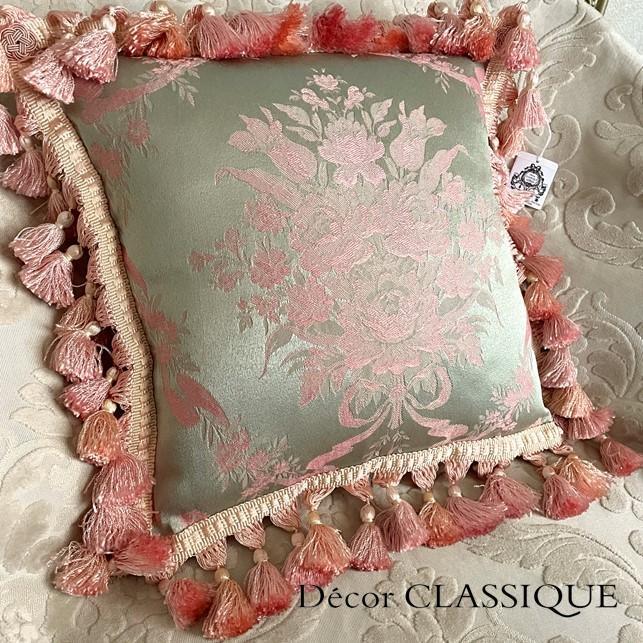 フリンジ付きクッション ローズモメント ピンク Decor CLASSIQUE decor-classique 02