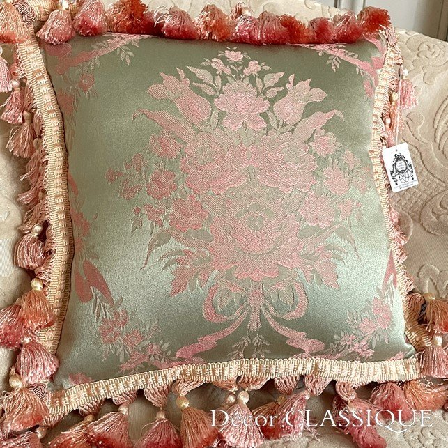 フリンジ付きクッション ローズモメント ピンク Decor CLASSIQUE decor-classique 04
