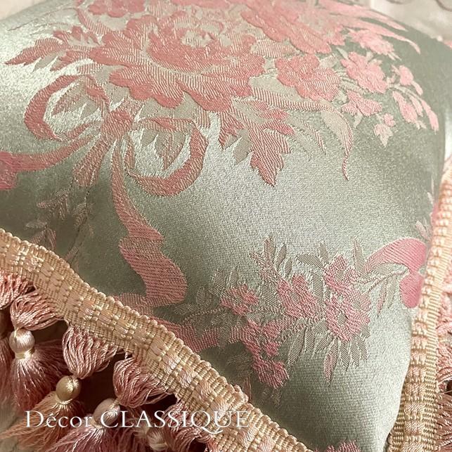 フリンジ付きクッション ローズモメント ピンク Decor CLASSIQUE decor-classique 06