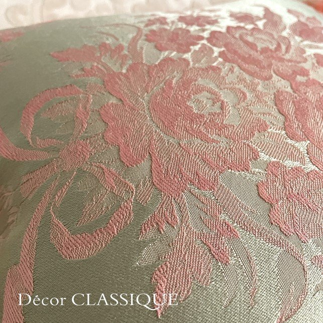 フリンジ付きクッション ローズモメント ピンク Decor CLASSIQUE decor-classique 08