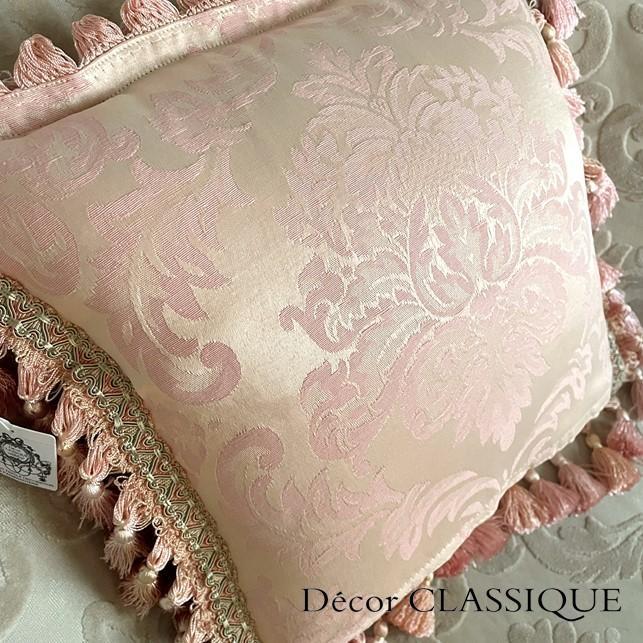 フリンジ付きクッション ローズモメント ピンク Decor CLASSIQUE decor-classique 10