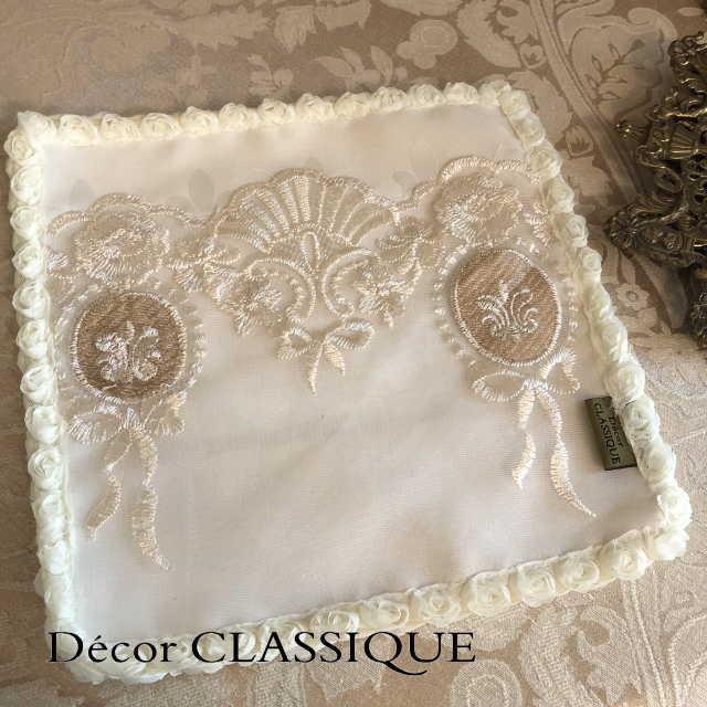 カクテルナプキン:エレガントティーナプキン:淑女の扇とフルールドリスボゥ Decor CLASSIQUE|decor-classique|02