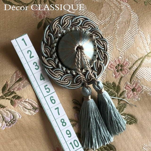 ロゼットタッセルデコール:裏にピンが付いていないタイプ:バッグチャーム・ハンドメイド素材にもおすすめ:Decor CLASSIQUE|decor-classique|03
