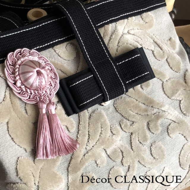 ロゼットタッセルデコール:裏にピンが付いていないタイプ:バッグチャーム・ハンドメイド素材にもおすすめ:Decor CLASSIQUE|decor-classique|05