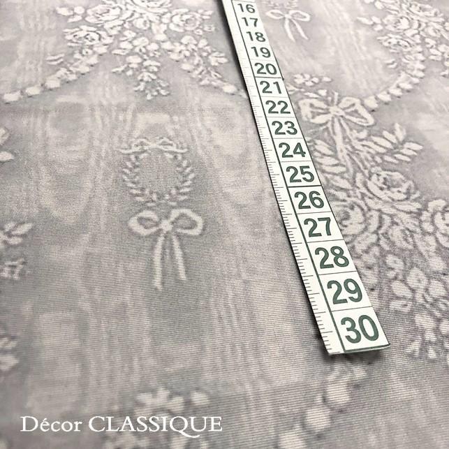 グレーのリボン柄テーブルクロス 撥水加工:長方形/正方形/円形:ビジューボゥフルール:Decor CLASSIQUE|decor-classique|05